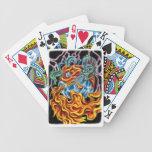 Dragón y cubierta de Phoenix de tarjetas Barajas