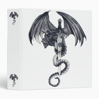 """Dragón y espada 1,5"""" carpeta"""