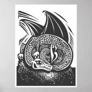Dragón y horda póster