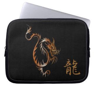 Dragón y kanji del tigre para la manga del ordenad mangas computadora