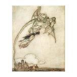 Dragón y la princesa impresion de lienzo