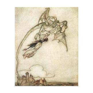 Dragón y la princesa lona estirada galerias