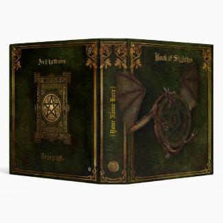 Dragón y libro del Pentagram de sombras