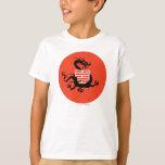 Dragón y logotipo de Ninja Remeras
