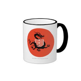 Dragón y logotipo de Ninja Taza A Dos Colores