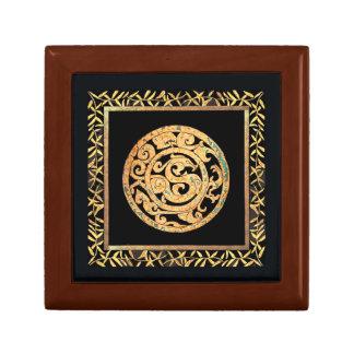 Dragón y negro del emblema de Phoenix Joyero Cuadrado Pequeño