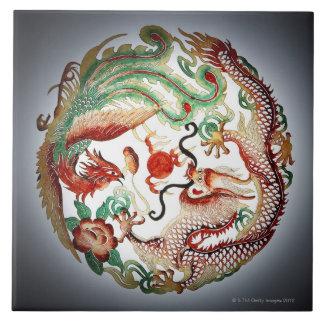 Dragón y plantilla de Phoenix Azulejos Ceramicos