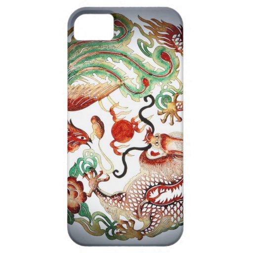 Dragón y plantilla de Phoenix iPhone 5 Case-Mate Cárcasa