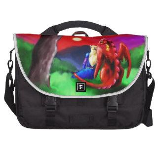 Dragón y princesa bolsas para portátil