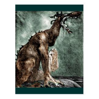 Dragón y sirena tarjetas postales