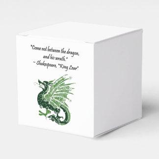 Dragón y su rey Lear Cartoon de Shakespeare de la Cajas Para Regalos De Boda