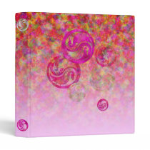 "Dragon Yin Yang and ""Easter Pink"" Clouds 3 Ring Binder"