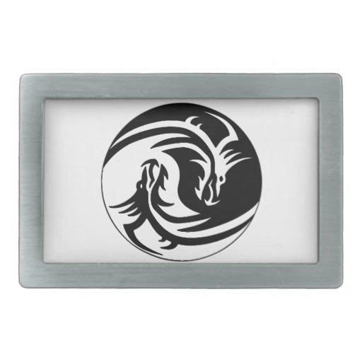 Dragon Yin Yang Belt Buckles