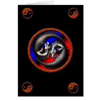 Dragon Yin-Yang Greeting Card