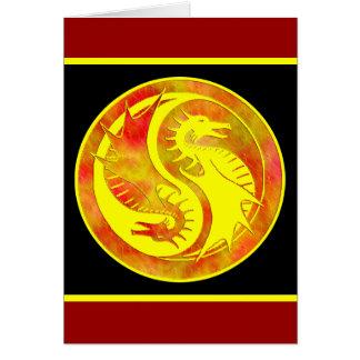 Dragon Yin Yang Card