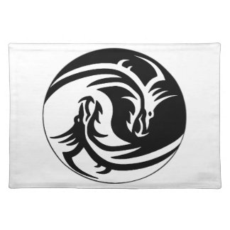 Dragon Yin Yang Cloth Placemat