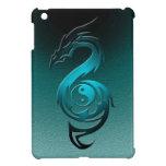 Dragon yin yang cyan iPad mini cases