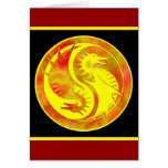 Dragon Yin Yang Greeting Card