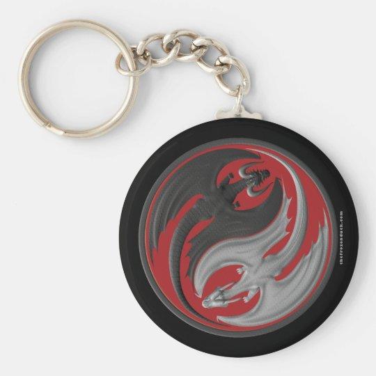 Dragon Yin-Yang Keychain