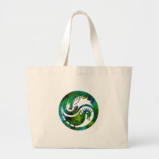 Dragon Yin Yang Large Tote Bag