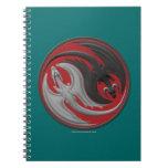 Dragón Yin-Yang Libro De Apuntes Con Espiral