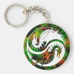 Dragón Yin Yang Llaveros Personalizados