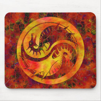 Dragon Yin Yang Mouse Pad