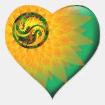 Dragón Yin Yang Calcomanías De Corazones Personalizadas