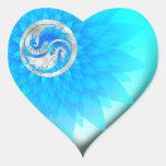 Dragón Yin Yang Pegatina De Corazón Personalizadas