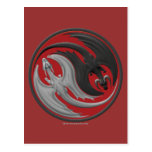 Dragón Yin-Yang Postales