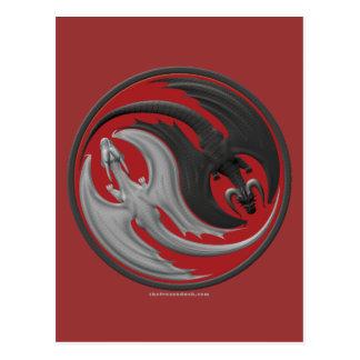 Dragon Yin-Yang Post Cards