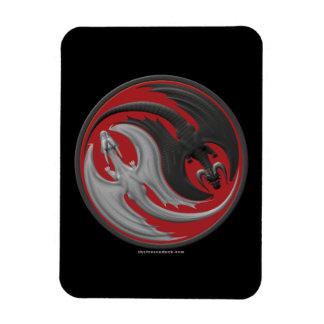 Dragon Yin-Yang Rectangle Magnet