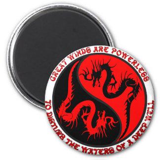 Dragon Yin Yang Refrigerator Magnet