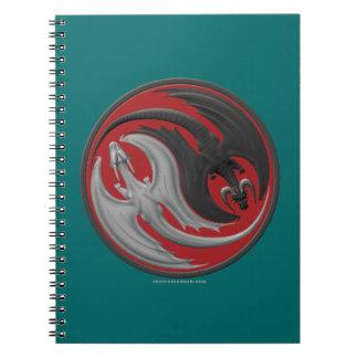 Dragon Yin-Yang Spiral Notebook
