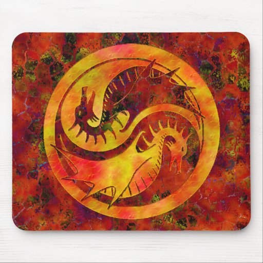 Dragón Yin Yang Tapetes De Raton