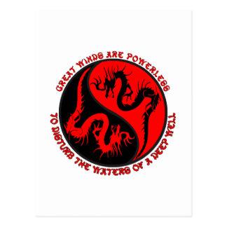 Dragón Yin Yang Postal