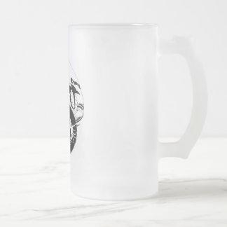 dragon_yin_yang_tribal, jarra de cerveza esmerilada