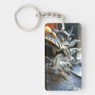 Dragón-Yu de bronce llavero de Mercado-Shangai,