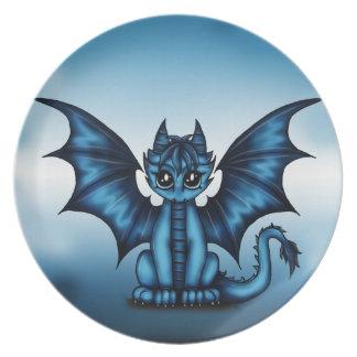 Dragonbaby blue dinner plate