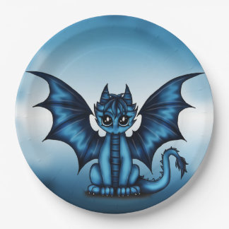 Dragonbaby blue paper plate