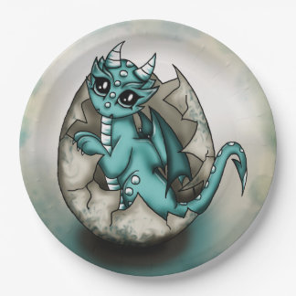 Dragonbaby in egg paper plate