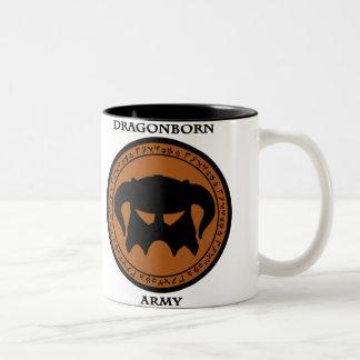 Dragonborn Army Two-Tone Coffee Mug