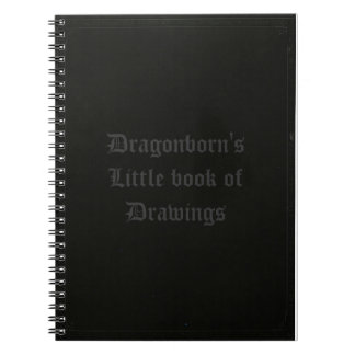 Dragonborn's little book of drawings spiral notebook