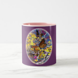 dragoncat butterfly fantasy Mug