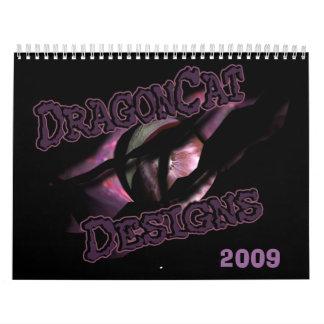 DragonCat diseña 2009 dragones 3D Calendarios
