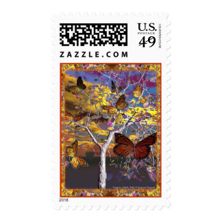 Dragoncats Butterfly Fantasy Stamp