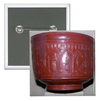 Dragondorff cup, from Graufesenque, c.150 BC (terr 2 Inch Square Button