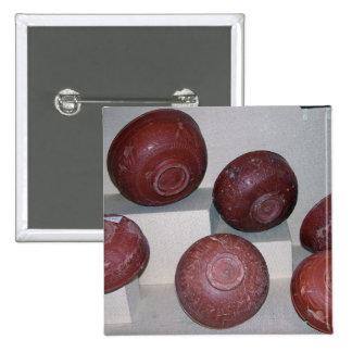 Dragondorff cups, c.150 BC (pottery) 2 Inch Square Button