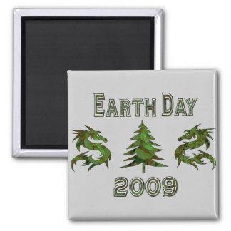 Dragones 2009 del Día de la Tierra Imán Cuadrado