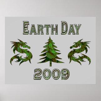 Dragones 2009 del Día de la Tierra Póster